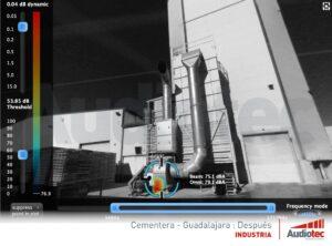 Cementera Guadalajara después cámara acústica