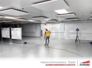 La acústica de una sala de formación.