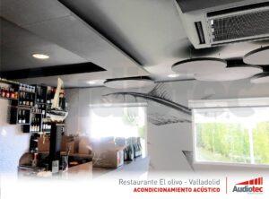 Solución acústica sin obras para un restaurante.