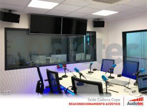 Sala audiovisual, sinónimo de acústica perfecta.