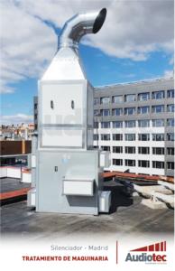 Silenciador de ruido en la cubierta de un edificio