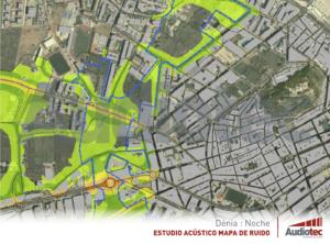 Mapa estratégico de ruido de Dénia.
