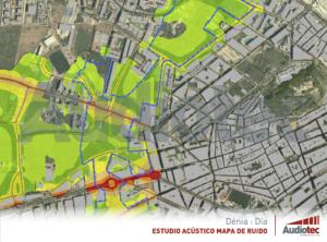 Mapa estratégico de ruido de Dénia. Diseño urbanístico.