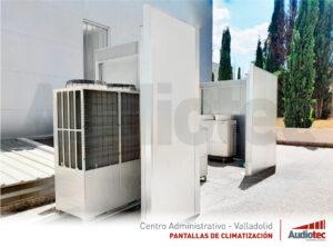 Insonorización de equipos de climatización en exteriores.